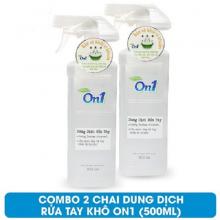 Combo 2 chai dung dịch rửa tay khô On1 500ml hương BamBoo Charcoal