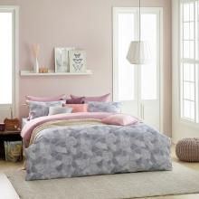 Bộ vỏ chăn nệm gối 4 món Sa Maison, mã Pink Flower, Queen Size 160x200cm