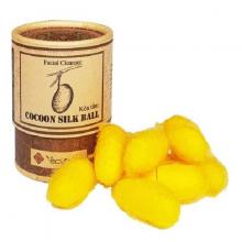 Kén tằm Ecolife dưỡng da hộp nhỏ - Cocoon Silk Ball Ecolife