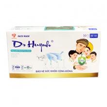 (Tặng nước rửa tay) Combo 5 hộp khẩu trang y tế kháng khuẩn Dr Huynh – 1 hộp 50 chiếc
