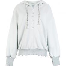 Áo hoodie nút vải phom rộng 128228