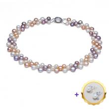 Vòng cổ Ngọc trai Thiên nhiên Cao cấp - Kết chùm Nho - GrapesPearl (6-8ly) - CTJ5108 + Tặng bông tai nụ bạc