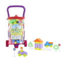 Xe đẩy Caddy và bộ lắp ghép 160 chi tiết đồ chơi Polesie Toys