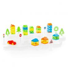 Bộ lắp ghép thành phố nhỏ 61 chi tiết đồ chơi Polesie Toys