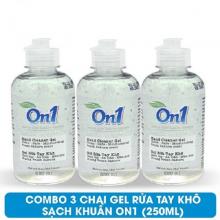 Combo 3 chai Gel rửa tay khô sạch khuẩn On1 250ml hương Fresh Sakura - 3 Gel 250ml