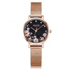 Đồng hồ nữ Julius Hàn Quốc JA-1164LG dây thép mặt hoa