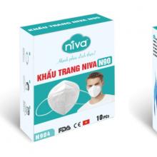 Hộp 10 chiếc khẩu trang Niva N90 - Bảo vệ sức khỏe