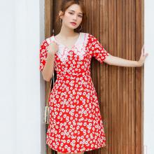 Đầm hoa cúc cổ ren kimi - AD20019