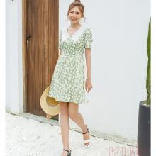 Đầm hoa cúc cổ ren kimi - AD20020