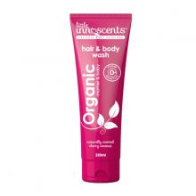 Dầu tắm gội hương cherry dừa hữu cơ Organic hair body wash Little Innoscents 250ml
