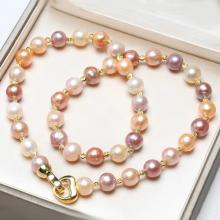 Bộ trang sức Ngọc trai Baroque Cao cấp - Chuỗi đơn kết nối - AddPearl (10-12ly) - CTJ0208 + Kèm hộp đựng sang trọng