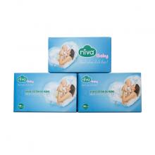 Combo 3 Hộp Khăn khô đa năng - Khăn Cotton đa năng Niva 100 tờ