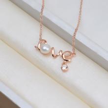 Vòng cổ Ngọc trai Thiên nhiên Cao cấp - Quà tặng Tình yêu - LovePearl (8-9ly) - CTJ1409