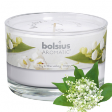 Ly nến thơm tinh dầu Bolsius Lily of the Valley 155g QT024868 - hoa lan chuông