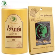 Bộ giảm eo siêu tiết kiệm cho mẹ sau sinh Wonmom (1 kg muối thảo dược giảm eo + 1 đai quấn muối)