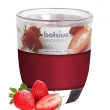 Ly nến thơm tinh dầu Bolsius Sweet Strawberry 105g QT024335 - hương dâu tây