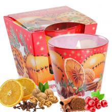 Ly nến thơm tinh dầu Bartek Christmas Orange 115g QT06455 - cam, quế, đinh hương (giao mẫu ngẫu nhiên)
