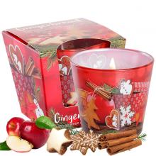 Ly nến thơm tinh dầu Bartek Gingerbread 115g QT06456 - bánh gừng, táo, quế (giao mẫu ngẫu nhiên)