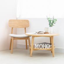 Bàn sofa bàn cafe tròn gỗ sồi MOHO OSLO 901 màu gỗ