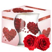 Ly nến thơm tinh dầu Bispol Love 100g QT024784 - hoa hồng nhung