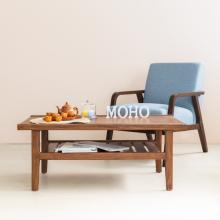 Bàn sofa bàn cafe gỗ thông MOHO VLINE 501 nâu