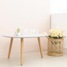 Bàn sofa gỗ cao Su MOHO VERONA 801 xám xanh