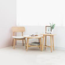 Set 2 bàn sofa tròn gỗ sồi MOHO OSLO 901
