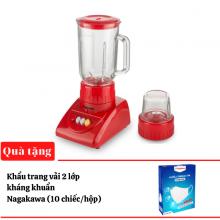 Máy xay sinh tố Nagakawa NAG0806 300W - màu ngẫu nhiên - tặng hộp 10 khẩu trang vải kháng khuẩn Nagakawa