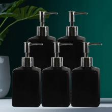 Combo 05 Bình sứ đựng sữa tắm, dầu gội, nước rửa tay dáng vuông bằng sứ (Nhiều màu)