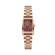 Đồng hồ nữ hàn quốc cao cấp julius ja-1252(vàng hồng mặt đỏ)