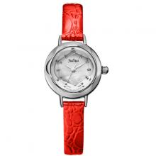Đồng hồ nữ dây da ja-482 (đỏ cam)