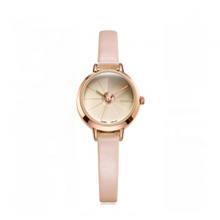 Đồng hồ nữ dây da chính hãng ja-979 ( hồng )