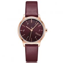 Đồng hồ nữ dây da hàn quốc ja-1253 ( đỏ mận )