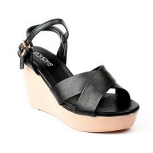 Giày Sandal Đế Xuống Quai Chéo SUNDAY DX30 - Màu Đen