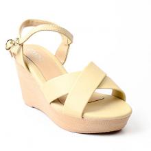 Giày Sandal Đế Xuống Quai Chéo SUNDAY DX30 - Màu Kem