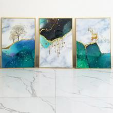 Bộ 3 bức tranh treo tường tráng gương cao cấp gd40