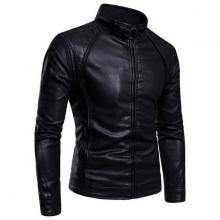 Áo khoác da nam lót lông thu đông cao cấp pigo fashion AD28