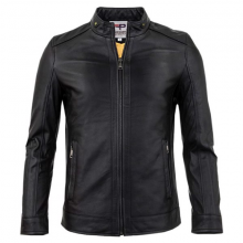 Áo khoác da nam lót lông thu đông cao cấp pigo fashion AD26
