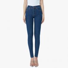 Quần jean pha sợi cà phê skinny lưng cao màu medium blue - Aaa Jeans