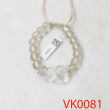 Vòng tay phối hồ ly đá lưu ly trắng VK0081