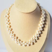 Vòng cổ Ngọc trai Cao cấp - ChuỗI đơn kết hoa - HoaPearl (6-8ly) - CTJ2904 + Tặng kèm bông tai nụ bạc