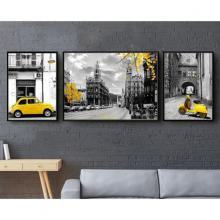 Tranh treo tường đường phố london THD31 (TẶNG 1 DECAL)