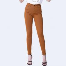 Quần kaki nữ dáng skinny màu nâu vàng - Aaa Jeans