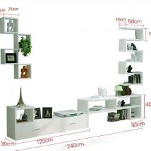 Bộ kệ treo tường và tủ ngăn kéo phòng khách