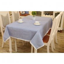 Khăn trải bàn sọc ca rô xanh KB33