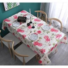 Khăn trải bàn cao cấp canvas hoa hồng KB32