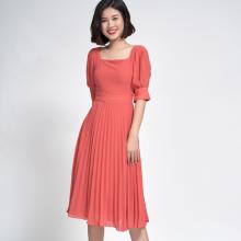 Đầm Xòe dập ly hồng SDP20050