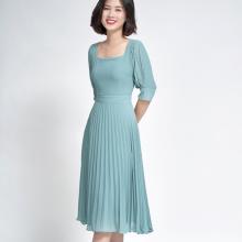 Đầm Xòe dập ly xanh SDP20050X