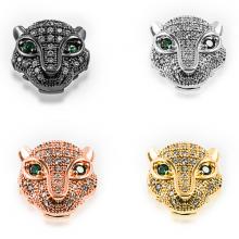 Charm đầu sư tử đính đá - Ngọc Quý Gemstones