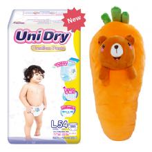 (Tặng 1 thú bông cà rốt) Bỉm Tã quần Unidry Premium size M60 - size L54 - size XL48